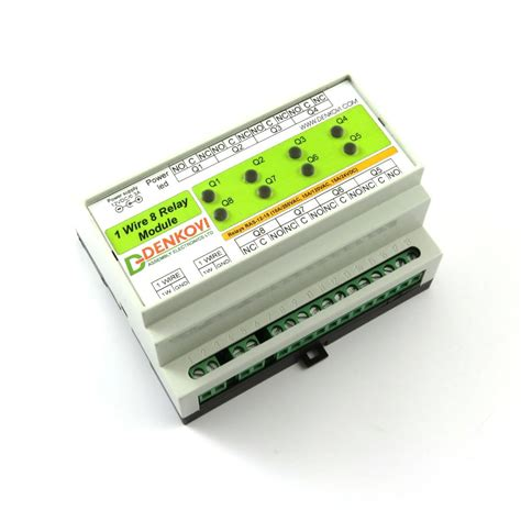 1 wire eight channel relay module for home automation with