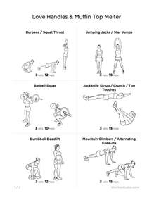 handles muffin top melter printable workout for