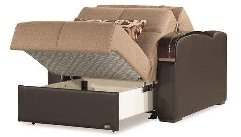 sleep  brown convertible chair bed  casamode