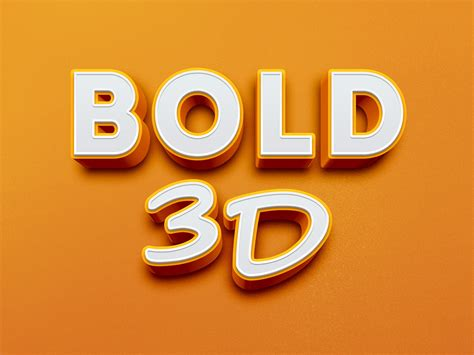 3d text templates for photoshop bold 3d text effect graphicburger
