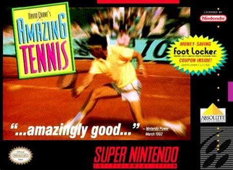 david crane's amazing tennis snes super nintendo