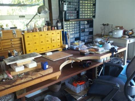 stand up on the bench jewelry bench notice the higher stand up desk and acid