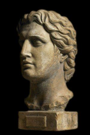 ancient macedonian king alexander  great bust sculpture