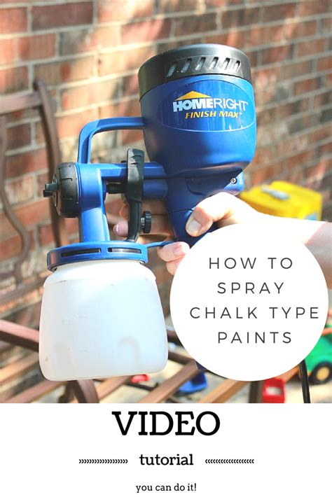 diy chalk paint in a sprayer tutorial on spraying chalk type paint by refunk my