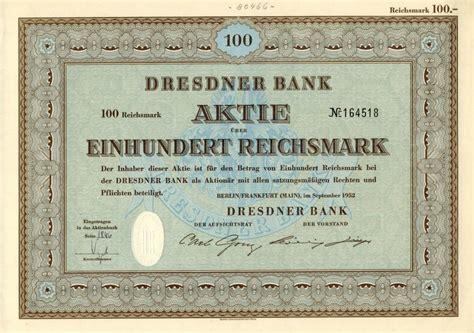 dt bank aktie lorenz nonvaleurs historische wertpapiere dt dre bank