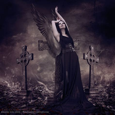 the gothic art of the gothic angel by razielmb on