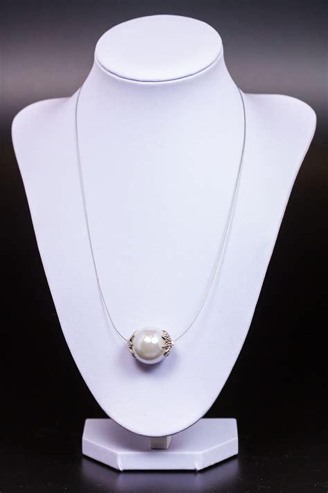 Kette Mit Einer Perle Hochzeit by Eine Schlichte Kette Mit Einer Grossen Perle Ohrringe