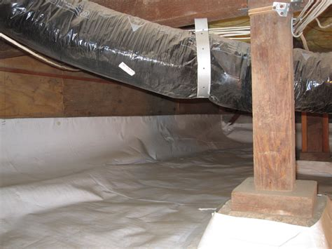 vapor barrier installation before after pictures