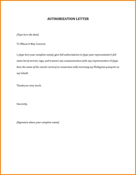 authorization letter to up my passport 12 authorization letter for passport card authorization