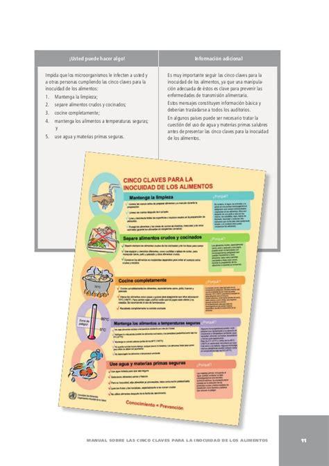 oms alimentos manual 5 claves para la inocuidad de los alimentos oms