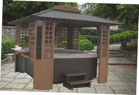 tub gazebo spa enclosures gazebos tubs gazebo ideas
