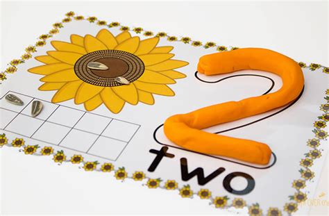 printable playdough mats numbers free sunflower play dough counting mats numbers 1 10
