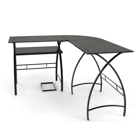 3 piece corner desk ryan rove stillman 3 piece corner l shaped computer desk