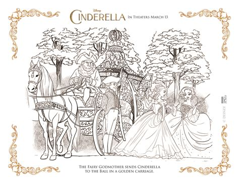cinderella 2015 coloring pages free cinderella coloring pages highlights along the way