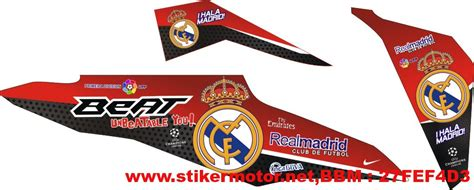 Striping Wave S 100 Supra X Fit New striping motor beat fi real madrid stikermotor net