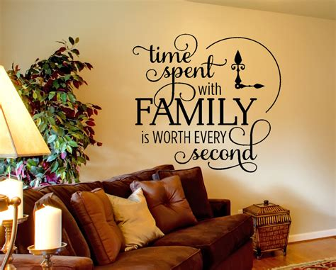 8 Items Its Worth Spending More On by Family Wall Decal Time Spent Quote Wall Decal Inspirational