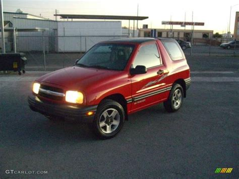 chevy tracker convertible 2002 wildfire red chevrolet tracker 4wd convertible