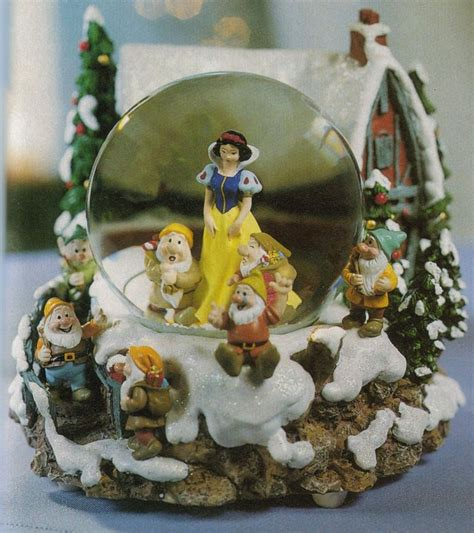 snow white christmas snow globe snow globes pinterest