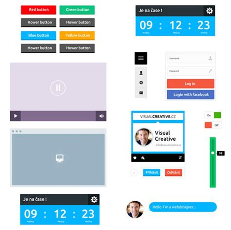 flat ui design templates 20 free flat user interface templates and designs