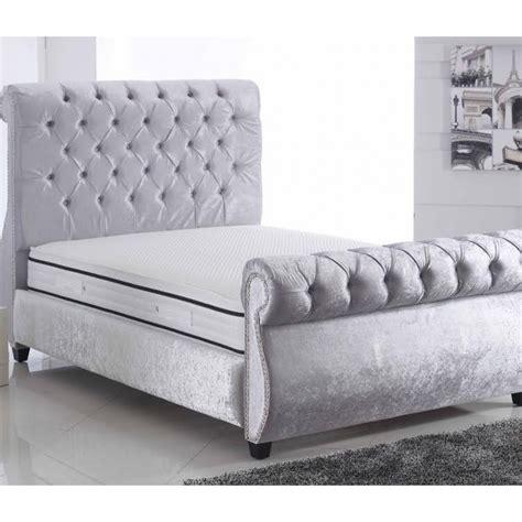 swan bed swan crushed velvet bed