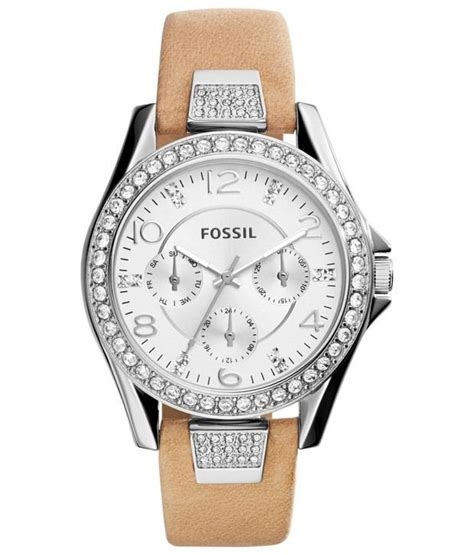 Fossil Fs0115 Brown List White fossil imported white brown wear analogue wrist