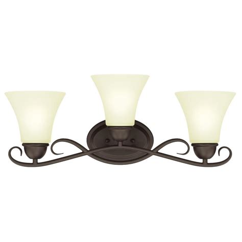 Light Fixtures Mississauga Westinghouse Dunmore 3 Light Rubbed Bronze Wall Mount Bath Light 6306900 The Home Depot