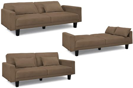Sleeper Futon Sofa by Organic Living Romeo Modern Convertible Futon Sofa Bed Sleeper Brown
