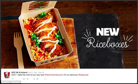 Box Rice Kfc after diner posts image of his kfc rice box others