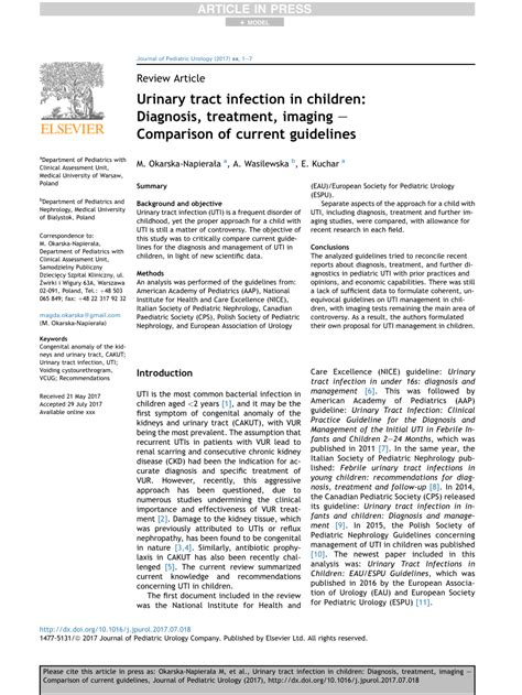 (PDF) Urinary tract infection in children: Diagnosis