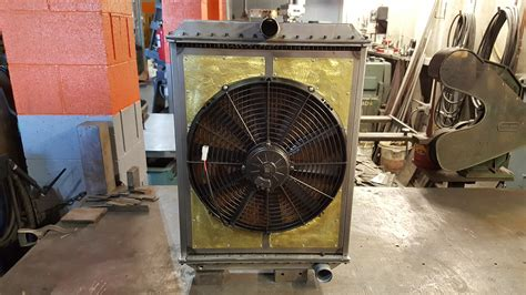 electric fans for rods custom high efficiency copper brass radiator with shroud