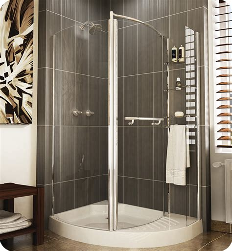 Banyo Shower Doors Fleurco Etl48 11 40 Banyo Turin Semi Frameless Pivot Corner Door With Curved Fixed Panel