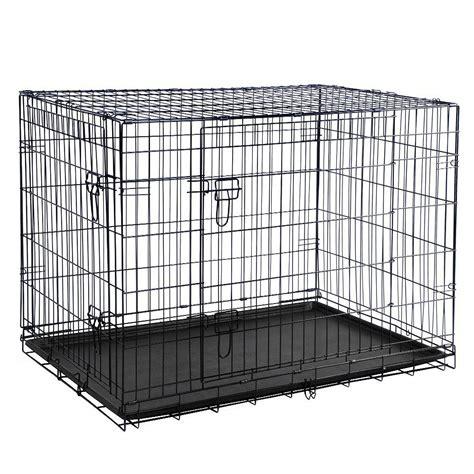 metal kennel pet cage pop up folding metal crate animal kennel travel carrier