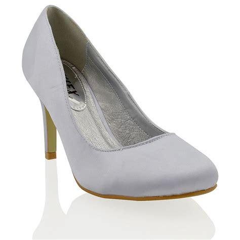 E Heels Slipon 906 88 new womens satin stiletto heel evening prom bridal