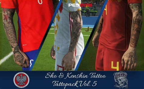 tattoo pack pes 2018 pes 2018 ks tattoopack vol 5 by sho9 6 kenshin pes club