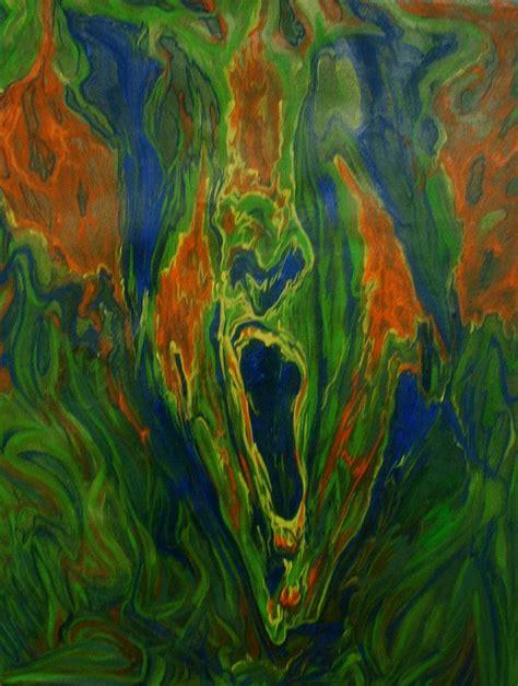 Green Safir green howl painting by safir rifas