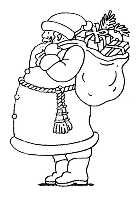 Coloriage Un Père Noel Et Son Gros Ventre - Hugolescargot.com