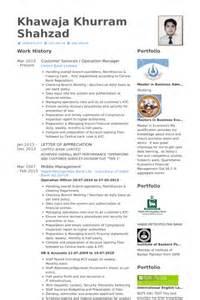operation manager resume sles visualcv resume sles