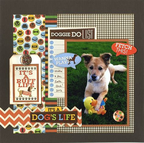 scrapbook layout rules 192 best dog scrapbook in memory images on pinterest