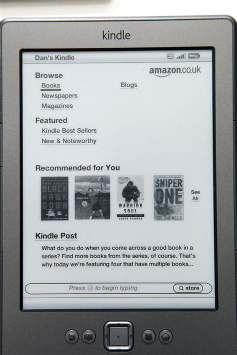 amazon kindle store kindle wifi 6 quot e ink display in depth user review page 3