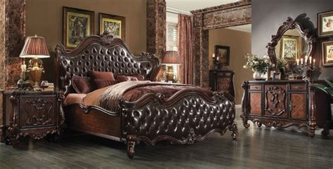 cherry oak bedroom set bedroom set versailles collection cherry oak finish