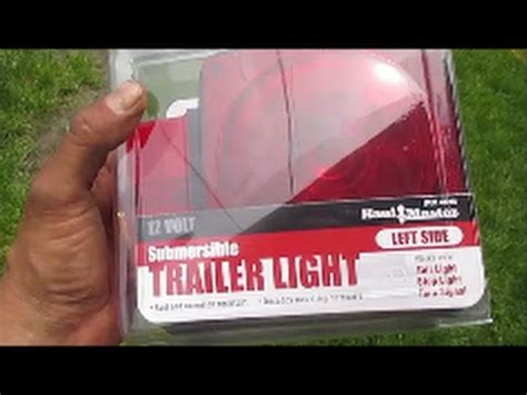 harbor freight submersible trailer lights install
