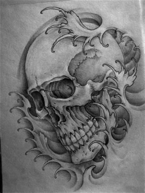 japanese skull tattoo ink japanese waves and forum on