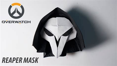 How To Make A Origami Mask - overwatch origami reaper s mask tutorial for