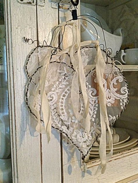 hang photos from wire vintage wedding hanging wire lace heart 2166469 weddbook
