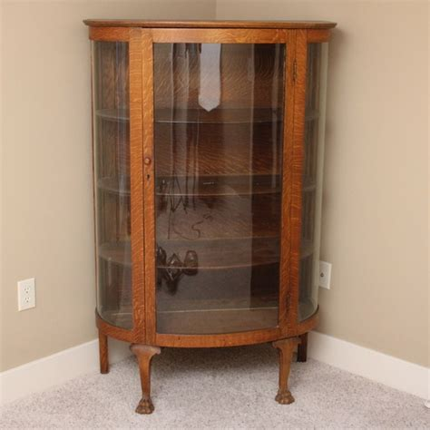 antique oak china cabinet ebth