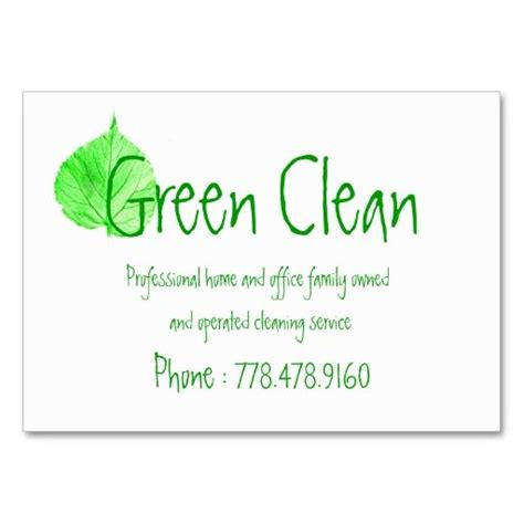 Clean Buisiness Card Template by Cleaning Company Green Eco Friendly Nature Business