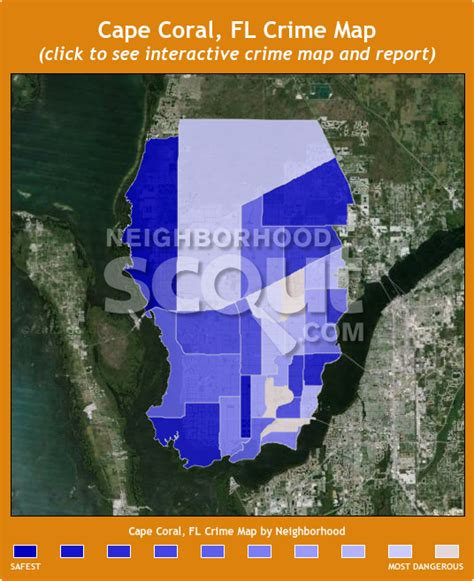 map of cape coral fl cape coral crime rates and statistics neighborhoodscout
