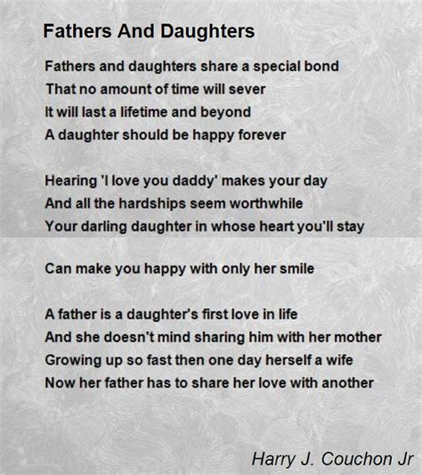 fatherless daughters turning the of loss into the power of forgiveness books fathers and daughters poem by harry j couchon jr poem