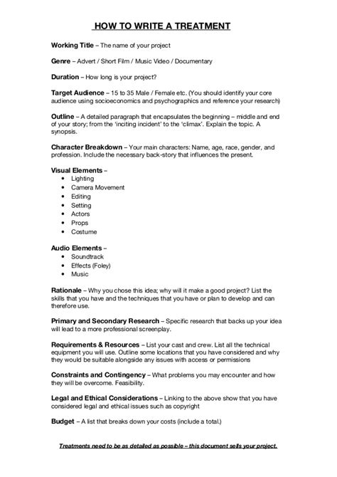 treatment template doc treatment template