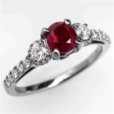 Wedding Rings With Rubies by 40 Best Ruby Engagement Rings Images On Ruby